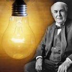 Edison con la bombilla