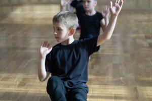 Sesión de terapia de danza